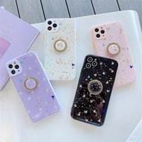 Camera Protection Lovely Style Phone Cases for iPhone 12 mini 11 Pro XS Max XR X 8 7 Plus Silicone Gold Foil Mobile Shell Case