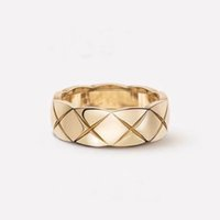 Luxury Charm Ring Wide Series Men's and Women's Plaid Jewelry Exquisite Gift Box Packaging