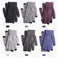 Five Fingers Gloves Unisex Winter Adult Men And Women Plus Mittens 2021Thickened Knitted Woolen Outdoors Soft Warm