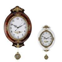 Wall Clocks Large Wooden Vintage Clock Design Home Decor Pendulum Mute Quartz Guess Women Watch Mechanism Movement 50ZB022