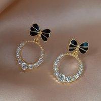 Cute Knot Dangle Errings Zicon Circle Drop Earrings Korean Fashion Women Earrings Girls' Unusual Jewelry