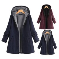 Women's Jackets Women Hoodie Coat Jacket Autumn Winter Trench Coats Warm Streetwear Windbreakers Overcoat Hoodies