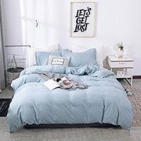 Bedding Sets Solid Color Sanding Polyester Set 2 3PCS Duvet Cover Set,Comfortable Bed Linens (No Fitted Sheet) Home Textile