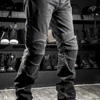 Mens Black Biker Jeans Motocycle Denim Pants Male Stretch Original Trousers Off-road Pants Protection Clothing Xxxxl Plus Size A0607