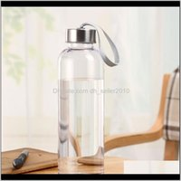 Kitchen, Dining Bar Home & Garden Drop Delivery 2021 Outdoor Sports Portable Bottles Plastic Transparent Round Leakproof Travel Carrying For