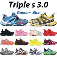 2021 Triple S Hombres Zapatos Casuales Gris Deep Pink Blue Instaurador Lima Amarillo Black Fucsia Navy Moda Hombres Mujeres Zapatillas de deporte Chaussures al aire libre
