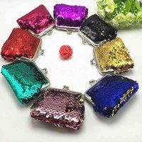 New Fashion Sequins Mini Wallet Clutch Pouch Portable Women Sequins Coin Purses Handbags Card Holder Keys Earphone Bags VT0085