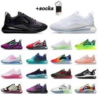 Nike Air Max Airmax 720 أحذية رياضية أصلية للركض للرجال والنساء  All Black White Bubble Pack Sea Forest Volt Cool Grey وافل  ا اء المدربين في الهواء الطلق المشي الركض   أحذية