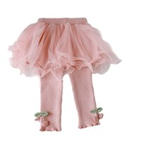 Girls Leggings Baby Skirts Pants Kids Tights Toddler Clothes Infant Clothing Spring Autumn Cotton Newborn Trousers Wear 0-3T Ballet Tutu Princess B8650