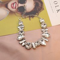 Luxuosa de cristal completo moda mulher pescoço cadeia coradores colares brilhando na moda clavícula encanto zircon jóias festa de casamento1 734 Q2