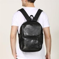Backpack Men Fashion Genuine Leather Backpacks Anti-theft Bags Preppy Style College Teenager School Bag For Laptop