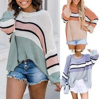 Sweater Loose Round Neck Jumper Long Sleeve Patchwork Striped Y2K Clothes EMO Indie Grunge Aesthetic Ugly Vintage Pullover Women Women's Swe