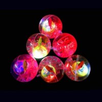 Educational toy 5.5cm flashing crystal ball luminous elastic colorful jumping children's toys wholesale spread 496