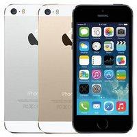 Original Refurbished Apple iPhone 5S With Fingerprint 4.0 inch 1GB RAM 16GB 32GB 64GB Dual Core IOS A7 8.0MP Unlocked 4G LTE Smart Phone Wholesale Free DHL 5pcs