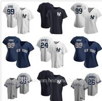 2020 hommes femmes enfants 99 Aaron Jersey 45 Gerrit Cole 25 Gleysber Torres Giancarlo Stanton Sanchez Sabathia DJ Lemahieu Baseball