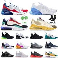 Nike Air Max airmax 270 270OG ENG React Mens Womens Koşu Ayakkabıları 270s Zar zor Tepki Verir Gül Pembe Kırmızı Erkek Kadın Spor Sneakers Eğitmenler Boyutu 36-45