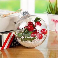 Decorações de Natal Transparente Bola de Plástico Baubles 6cm Natal árvore Ornamento Party Wedding Bolas Clear OWB10294