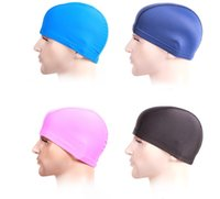 Fashion Mens Candy colors Swimming caps unisex Nylon Cloth Adult Shower Caps waterproof bathing caps DH9599