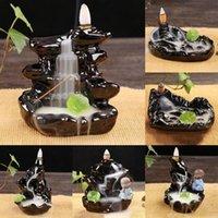 Fragrance Lamps Ceramic Incense Burner Antique Meditation Censer Decoractive Holder Indoor Desktop Ornaments Home Decor For Yoga Studios