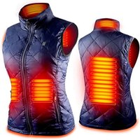 Winter Women's vest usb Heated jacket adjustable temperature clothings Infrared Electric Heating suit Woman Flexible Thermal keep Warm Sleeveless Jackets