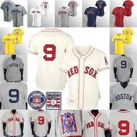 تيد وليامز جيرسي البيسبول 1939 كريم رمادي أبيض قاعة حمراء من الشهرة التصحيح