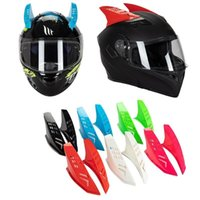 Motorcycle Helmets 2Pcs Cute Horns For Skateboard Helmet Punk Style Decoration Sticker F19A