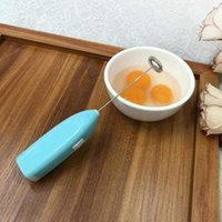 계란 도구 우유 음료 커피 털 믹서 전기 비터 frother foamer 미니 핸들 교반기 실용적인 주방 요리 도구 6 색 B76K