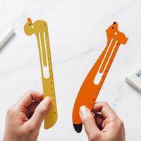 Cartoon Metal Bookmark Ruler Book Holder Clip Measuring Scale Drawing Tool School Student Supply