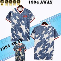 التايلاندية 1994 الولايات المتحدة الأمريكية بعيدا قميص الرجعية لكرة القدم الفانيلة Wegerle Lalas Ramos Balboa الولايات المتحدة الأمريكية 94 America Classic Compotts