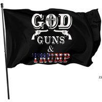3x5ft Gun Guns Trump Flag Doppia Pistola Sharpshooter Trump Bandiera Banner Banner elezione presidenziale Banner Banner Trump Bandiera HWB8537