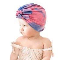 Recién nacido gorra bebé sol sombreros niños corbata teñido gorro diadema jersey sombrero de dibujos animados gorras arco elástico para niños pequeños niños y accesorios para niñas g69fxuk
