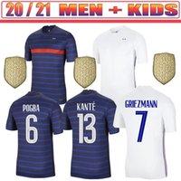 2020 2021 Fransız Jersey 2020 Tay Kalite 20 21Frand Çocuklar Mbappe Griezmann Pogba Futbol Forması Futbol Gömlek Maillot de Foot