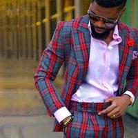 Fashionable Glen Plaid Wedding Tuxedos Slim Fit 2 Pieces Mens Winter Suit Custom Made One Button Peadked Lapel Blazer