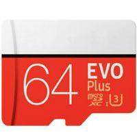 DHL SHIPPING 8GB / 32GB / 64GB / 128GB / 256GB EVO + PLUS بطاقة Micro SD U3 / الهاتف الذكي TF Card C10 / Car Recorder بطاقة تخزين SDXC 95MB / S