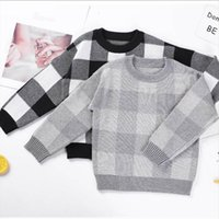 Childrens suéter primavera outono crianças suéteres garotos de lattice de algodão por 1 6 anos crianças vestir roupas menina