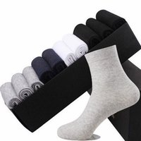 Men's Socks 5 Pairs Solid Color Cotton Black Business Men Soft Spring Summer Thin Breathable Deodorant Sports Long