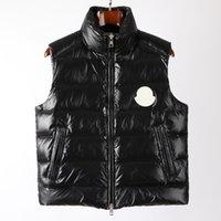 디자이너 Monclair Mens Down 조끼 재킷 프랑스 브랜드 20ss 조인트 민소매 인쇄 여성 코트