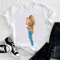 Женская футболка женская одежда сладкая жизнь младенца мама мама мать тенденция с коротким рукавом летняя одежда печать футболки женский тройник топ графика