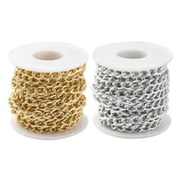 Bag Parts & Accessories 1 Roll Aluminum Twisted Curb Chains For DIY Jewelry Necklaces Bracelets Material