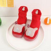 First Walkers Children Anti-slip Shoes Born Baby Girl Red Soft Non-slip Floor Socks Boy Rubber Sole Cartoon Animal Infant Indoor Sock