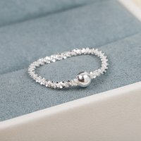 S925 sivler charm ring in platinum color for women wedding jewelry gift PS3397