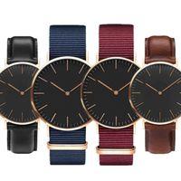 2021 fashion casual luxury watch designer quartz simple 40MM Men Mens watches leather nylon belt male clock 36MM women womens watches lady Wristwatch d&w reloj