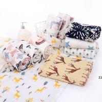 Baby Soft Bath Towel 2 Слои Хлопок окрашенные Ударные полотенца Чистый хлопок Печатная марлевое полотенце Бамбуковое Волокна Банные полотенца Одеяло HWE8821