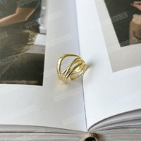 European and American niche style multi-layer ring female simple metal opening