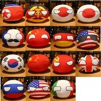 10cm Country Ball Toy Plush Pendant Polandball Plush Doll Countryball USSR USA FRANCE RUSSIA UK JAPAN GERMANY ITALY