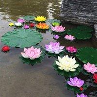 Dekorative Blumen Kränze 5 stücke Künstliche Lotus Wasser Lilie Floating Blume Teich Tank Pflanze Blatt Ornament 10 cm Home Hochzeit Garten Pool de