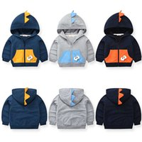 27kids Autumn Newborn Baby Boy Jacket Cute Pattern Coat Cartoon Cotton Trench Clothes Tops Hooded Windbreaker Outerwe 2-9Years G0917
