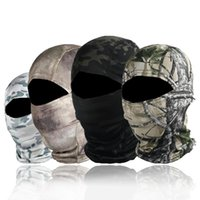 Cycling Caps & Masks Tactical Balaclava Camouflage Full Face Mask Cover Quick-drying Hunting Climbing Outdoor Sports Sun Protection Headwear