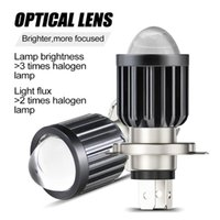 Car Headlights H4 LED Motorcycle Headlight Bulb Projector Lens Dual Color Hi Lo Beam Headlamp Parts