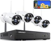 Sistemas de Kits de Câmera de Segurança Sem Fio Smonet, 8 Canais 1080P Home Vigilância NVR